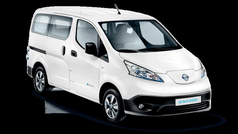 Nissan, e-NV200,kisbusz, fehér,elektromos