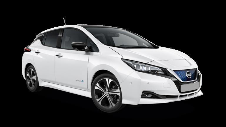 Nissan leaf fehér oldalnézet