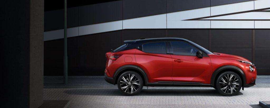 Nissan juke oldalnézet kerekek