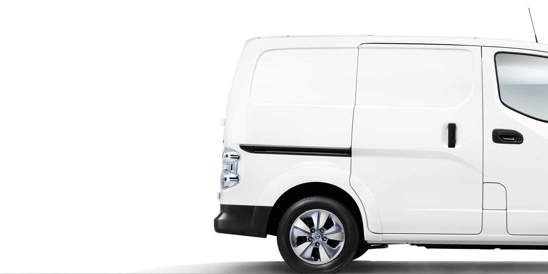 nissan, e-NV200, hátsó kerék, fehér, furgon