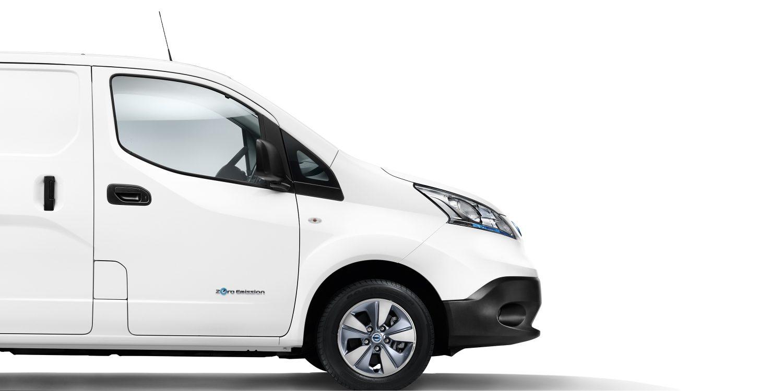 nissan, e-NV200, első kerekek, fehér, furgon