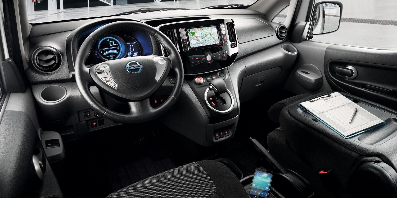 Nissan, e-NV200, belső tér,elektromos, tágas