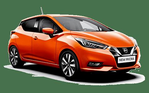 Nissan, narancssárga, rikító, micra