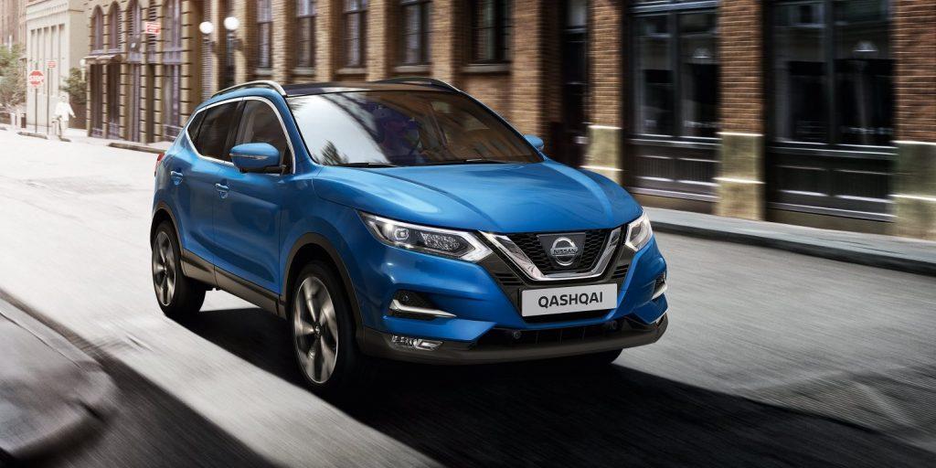 Nissan qashqai kék utca város sebesség