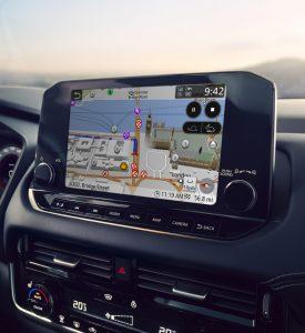 Nissan, intelligens kijelző,GPS,térkép