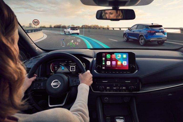 Nissan, belső tér, kormány kerék, intelligens kijelző,műszerfal