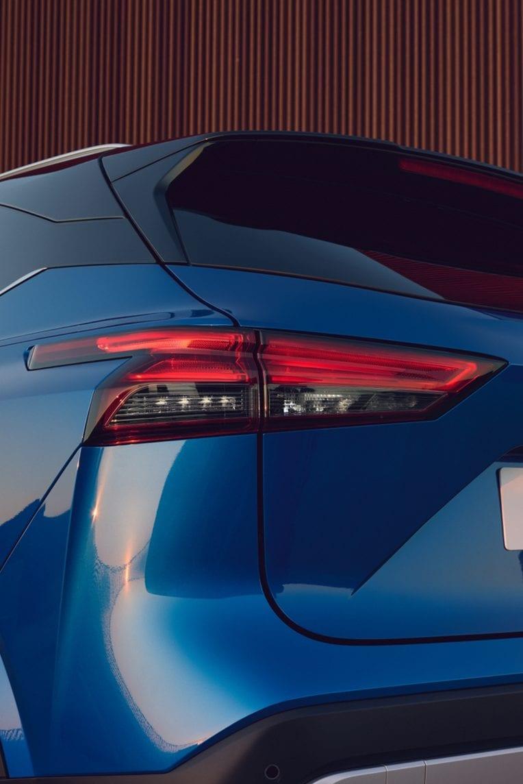 Nissan, lökhárító, bal hátsó, fényszóró