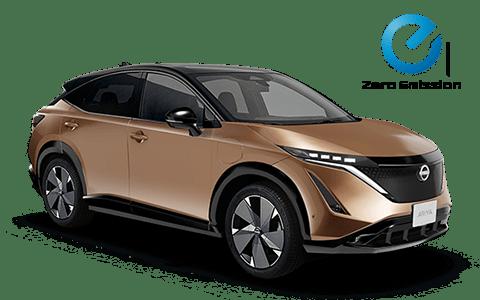Nissan, ariya, barna, elektromos