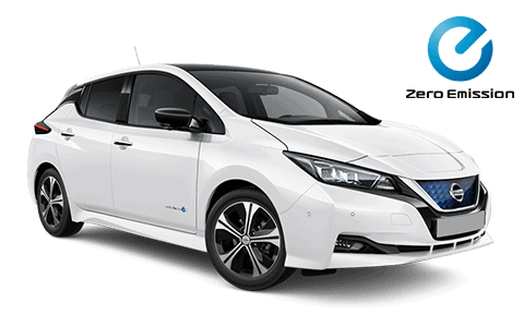 Nissan, leaf, fehér,elektromos