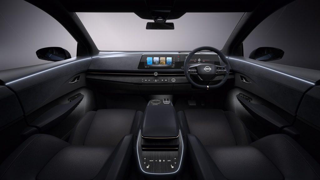 Nissan ariya technológia színvonalas belső
