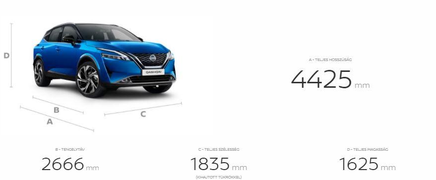 Nissan, új,qashqai, méretek