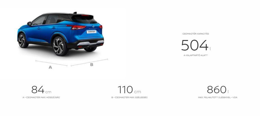 Nissan, új, qashqai, méretek, paraméterek