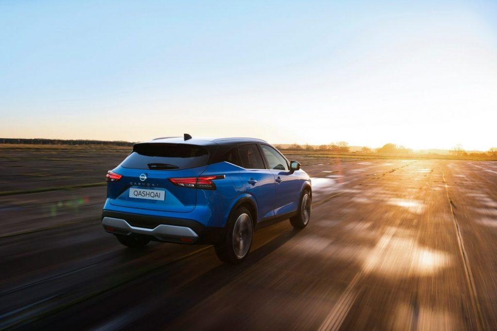 Nissan, út,naplemente, sebesség
