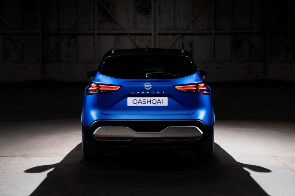 Nissan, qashqai,kék, hátul,raktár