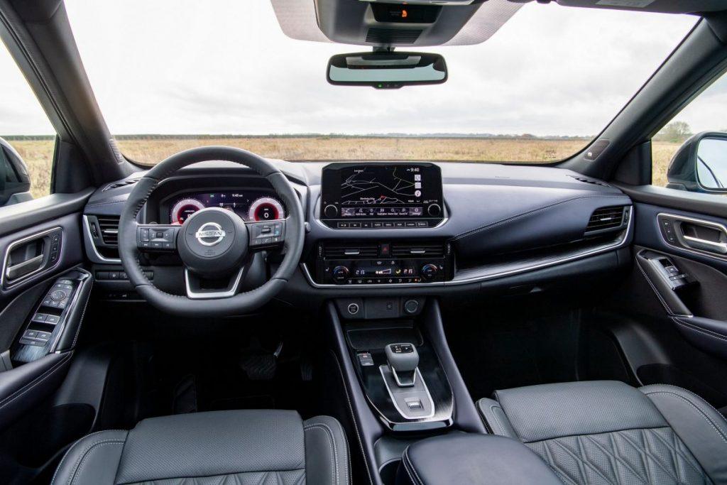 Nissan, belső tér, fekete,intelligens,matt, fekete